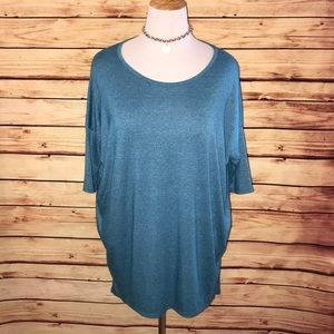 LuLaRoe Heathered Blue Irma Tunic